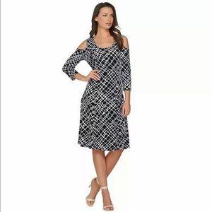 Susan Graver Cold Shoulder Dress